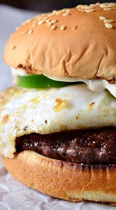 Jalapeno Egg Burger with Bacon Aioli