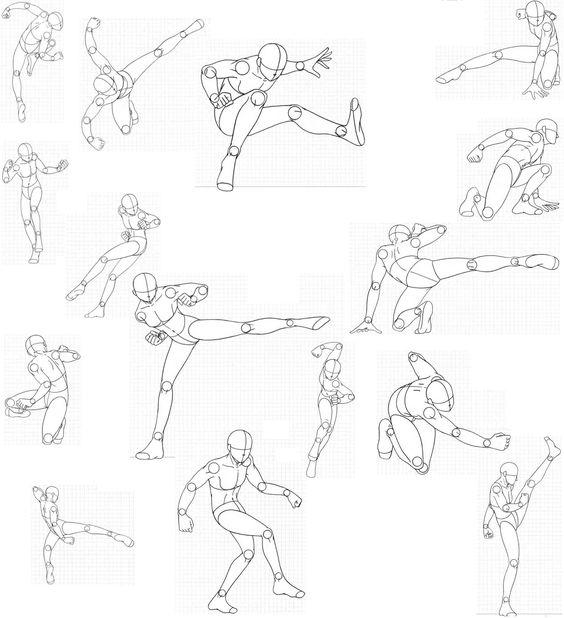 Line Art Action Photo : Manga action posen and sport on pinterest