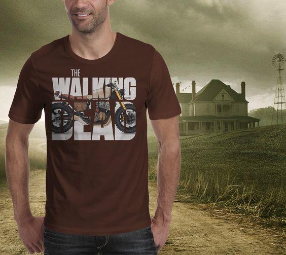 #walkingdead #thewalkingdead #darylsbike #daryldixon #walkingdeadfan #fanart #tshirtdesign #tee #motorcycle #illustration