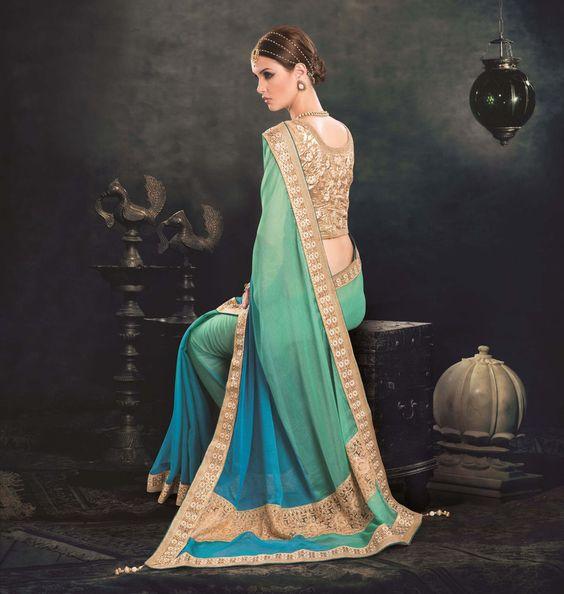 Partywear Indian Wedding Saree Designer New Pakistani Bollywood Ethnic Sari 6100…