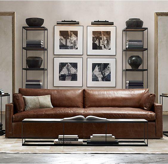 Trang trí phòng khách hiện đại với sofa da tphcm nhiều khối