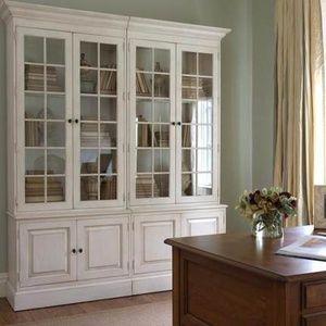 美式乡村组合书柜全实木桦木书橱 欧式储物柜书房家具定制展示柜