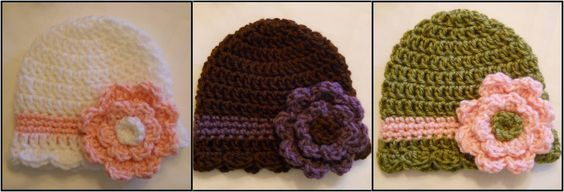 Baby hat--free pattern (there are other great crochet patterns on this site too)