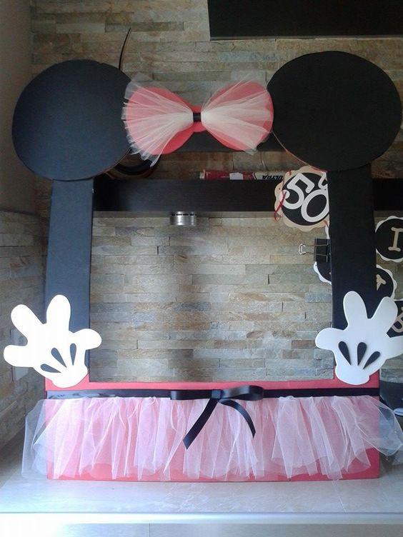 Minnie Mouse Frame Photo Booth 100 Handmade Con Eva Foam