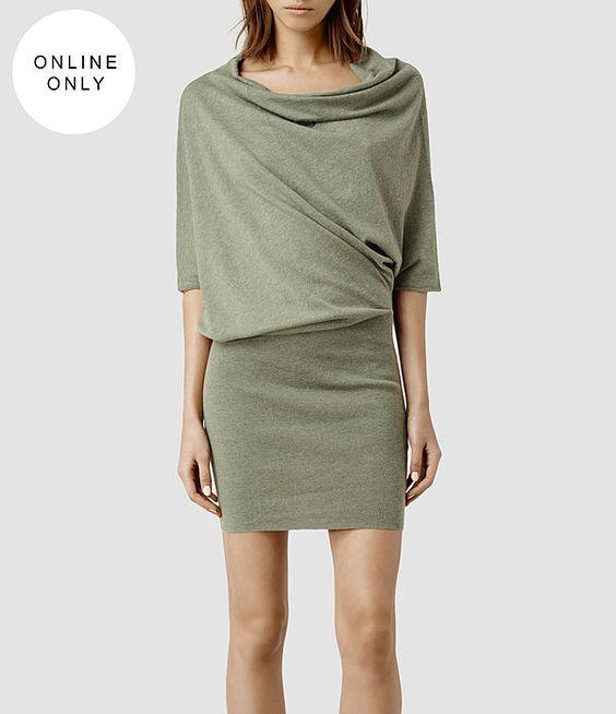 Womens Tilda Jumper Dress (Mist Marl) - product_image_alt_text_1