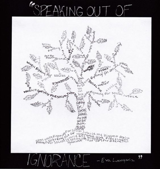The subjects of Art, Literature and Language Arts came together for this project our 8th grade stu...