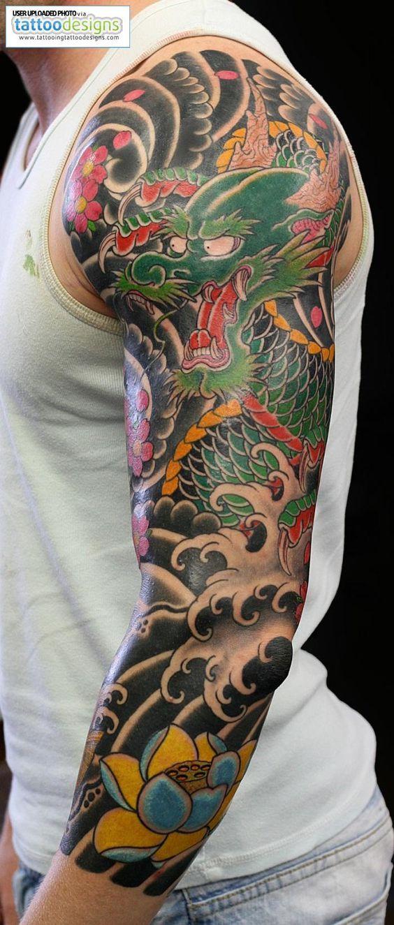 Japanese Dragon Half Sleeve Tattoos Google Search Tatouage