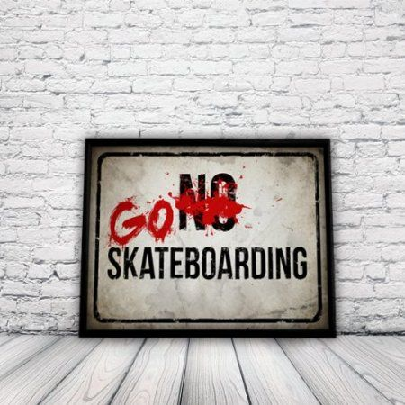 Skateboard Poster, skate poster, xsports poster, skating, skateboard sign, surfing, extreme sports, snow boarding, A3 poster, un-framed: Ama...