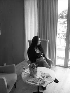 mein schönster Moment - Ruhe, Entspannung ein Glas Rose-Moment - und Zeit für mich