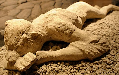 Pompeii ash-preserved body mould