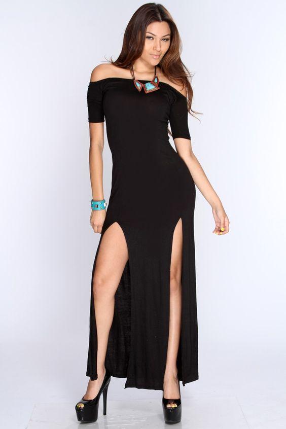 Electric ball Long Sleeve Leaf Print Black Bardot Dress strapless for juniors