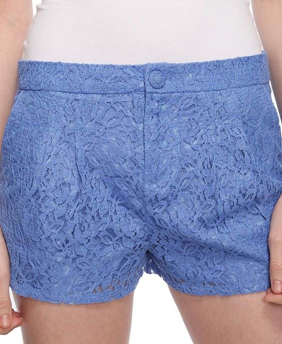 Periwinkle Lace Shorts