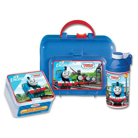 Thomas Friends Side Kick Lunch Box Set with Canteen Sandwich Container New | eBay