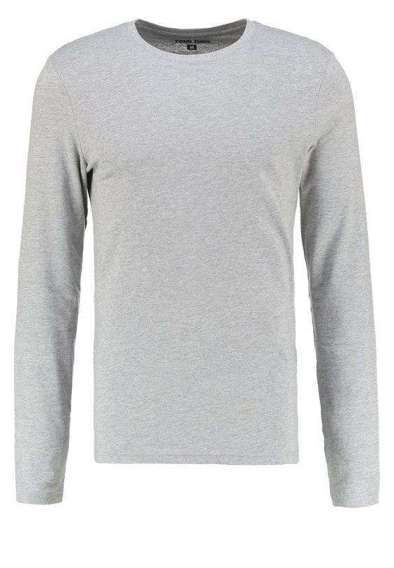 YOUR TURN Langarmshirt mottled grey Bekleidung bei Zalando.de | Material Oberstoff: 85% Baumwolle, 15% Viskose | Bekleidung jetzt versandkostenfrei bei Zalando.de bestellen!