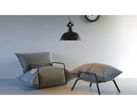 siège en feutre, fauteuil gonflable feutre, Agata Kulik-Pomorska, ©agatagulikpomorska