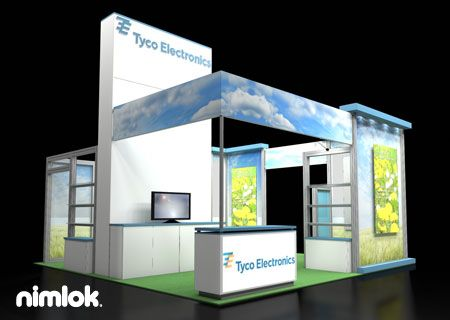 nimlok specializes in trade show ideas and trade show booth design for tyco we - Booth Design Ideas