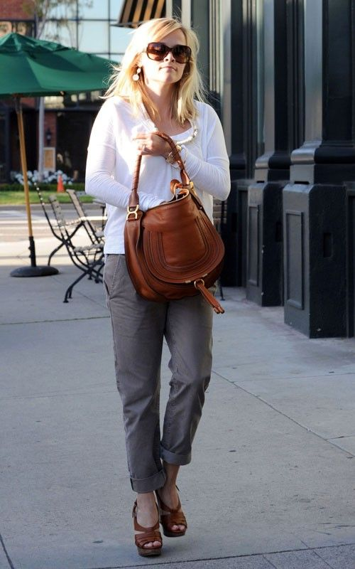Resse Witherspoon in J Brand Inez Chinos