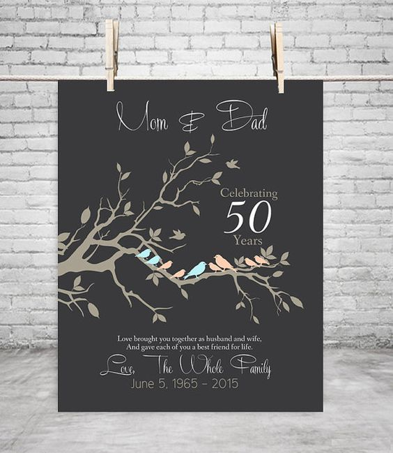 50th anniversary gift anniversary gift for parents golden for 50 wedding anniversary gifts for parents
