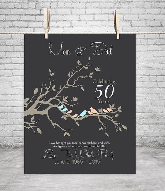 50th anniversary gift anniversary gift for parents golden for 50 wedding anniversary gifts for parents