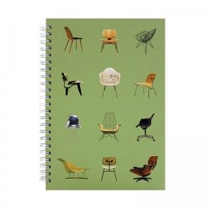 Classic Eames designs on a beautiful JOURNAL - CHRONICLE - CHAIRS