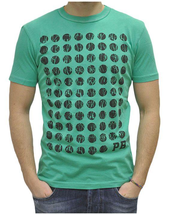 Balmain - Abbigliamento - T.Shirt - 6M27S674172313 (76,50€) #balmain #tshirt #summer #collection #green #texture #cotton #man