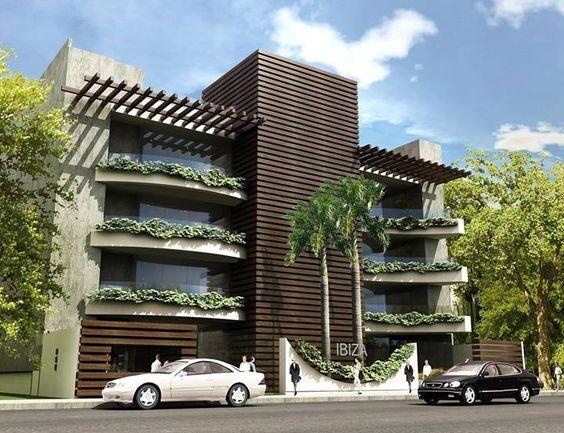Edificio de apartamentos ibiza en sta cruz de la sierra for Departamentos minimalistas fachadas
