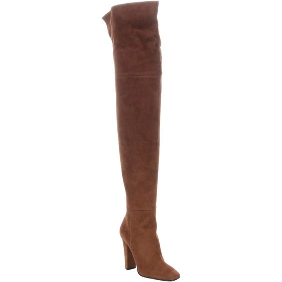 Giuseppe Zanotti Brown Suede 'alabama 105' Partial Zip-Up Thigh High... ($793) ❤ liked on Polyvore featuring shoes, boots, brown, over-the-knee boots, brown over-the-knee boots, suede over the knee high heel boots, brown thigh high boots, over the knee boots and tall brown boots