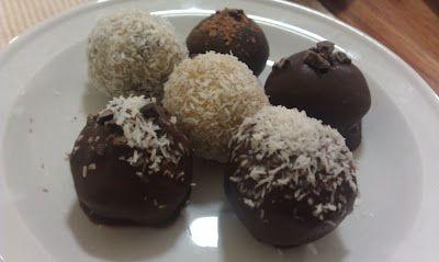 Raw chocolate truffles mmmmm