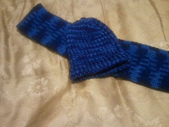 Hat and scarf for a boy.