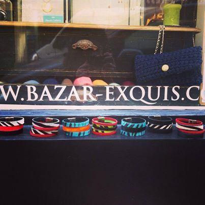 Manchette en Cuir, création Le Bazar Exquis. En vente à l'Atelier/Boutique, 12 rue Manuel 75009 Paris. www.bazar-exquis.com
