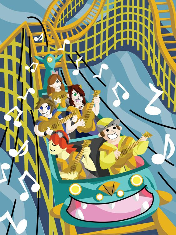 Nuzlocke Rollercoasting Ukulele Toasting by VolbeatFiro.deviantart.com on @deviantART