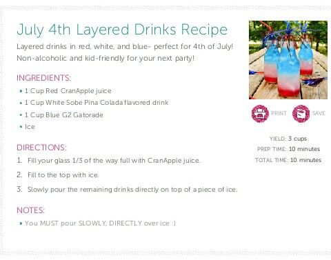 fourth of july layered cocktails
