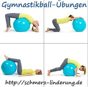 gymnastikball gegen rückenschmerzen