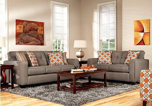 Classic Living Room And Living Room Burnt Orange Sofa Set ...