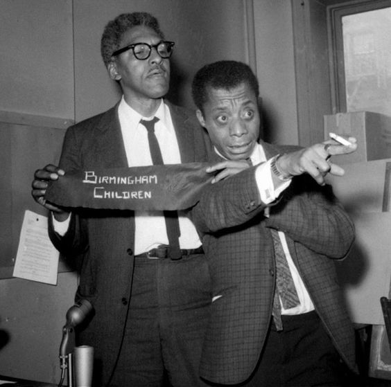Bayard Rustin and James Baldwin