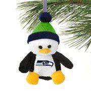 Seattle Seahawks Plush Penguin Ornament $7.95