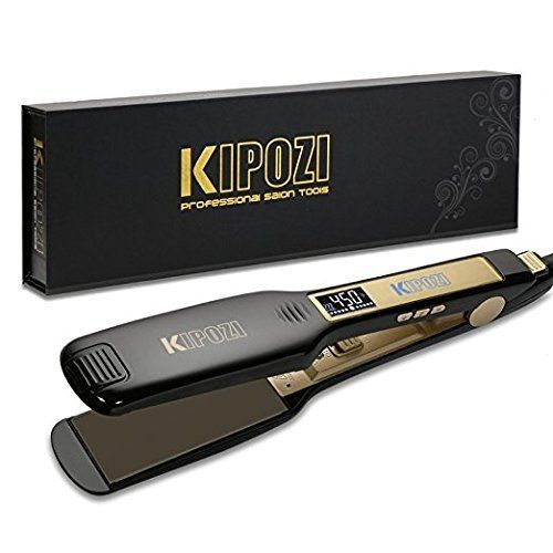 Kipozi Professional Titanium Flat Iron Hair Straightener Best Offer Ineedthebestoffer Com Hair Straightening Iron Flat Iron Hair Styles Titanium Hair Straightener
