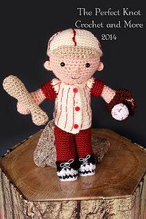 My First Babies Little Boy Blue Amigurumi Dress-up Doll Baseball Player Accessories $5.00