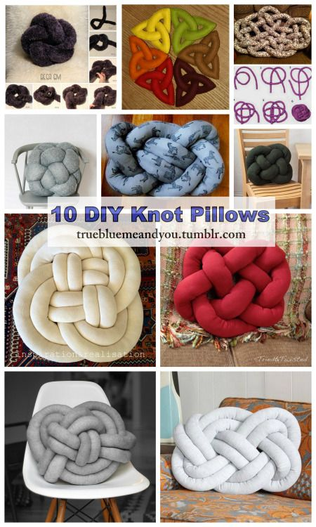 Diy Squishy Knot Pillow : 10 DIY Knot Pillows Roundup by truebluemeandyou. A blogging friend just emailed me with a link ...