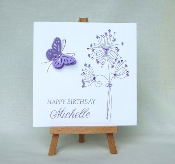 Floral Butterflies and Birthday cards – Personalised Birthday Card Uk