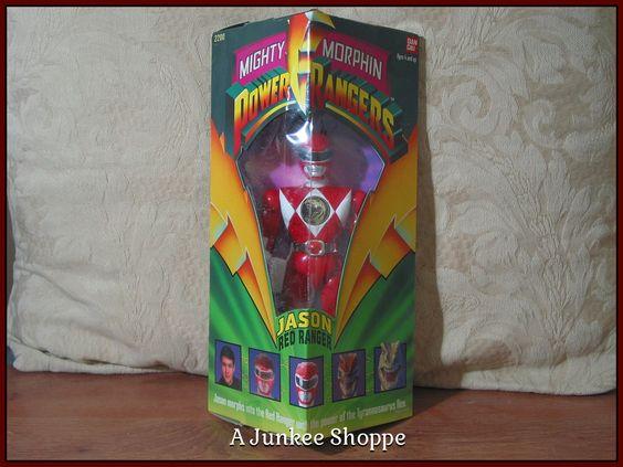 JASON RED Mighty Morphin Power Rangers 1993 Ban Dai   Junk0904  http://ajunkeeshoppe.blogspot.com/