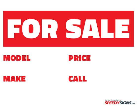 for sale signs to print free – Printable Car for Sale Sign Template