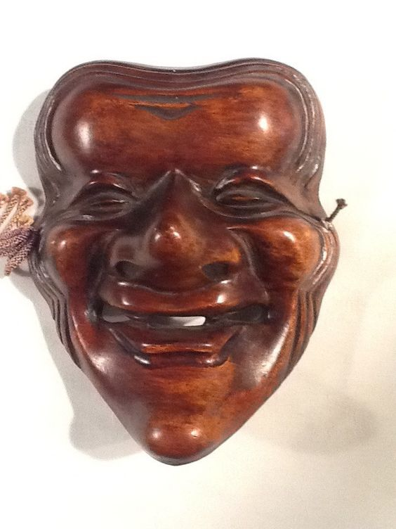 Noh Theater Mask -Old Woman