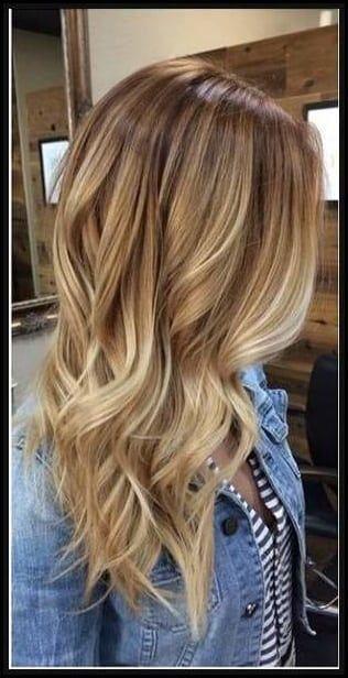 Frisuren goldblonde strahnchen