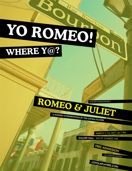 Romeo & Juliet (New Orleans Style) Poster