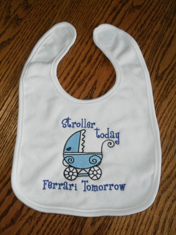 Hey, I found this really awesome Etsy listing at https://www.etsy.com/listing/150597902/stroller-today-boy-bib-ferrari-bib