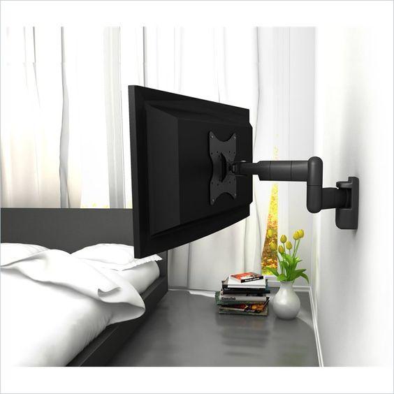 寝室 テレビ 壁かけ コーディネート例