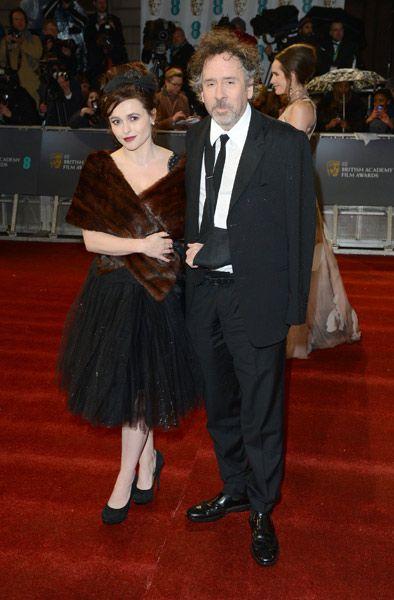Bafta 2013: Tim Burton con su mujer, Helena Bonham Carter