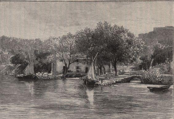 Chrysanthemum-Mühle an den Kerkafällen, von Hugo Charlemont