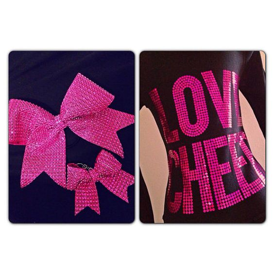 Love Cheer Black & Pink Cheerleading Zip Up Hoodie by Bowfriendz, $51.99